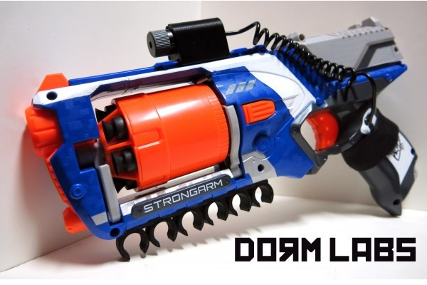nerf strongarm with laser nerf attachments