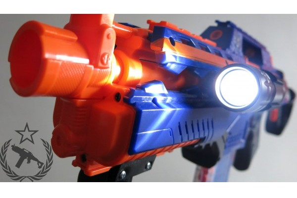 nerf rapidstrike with light nerf attachments