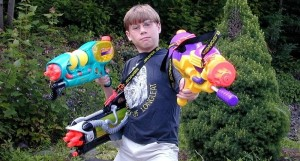 nerf super soaker kid