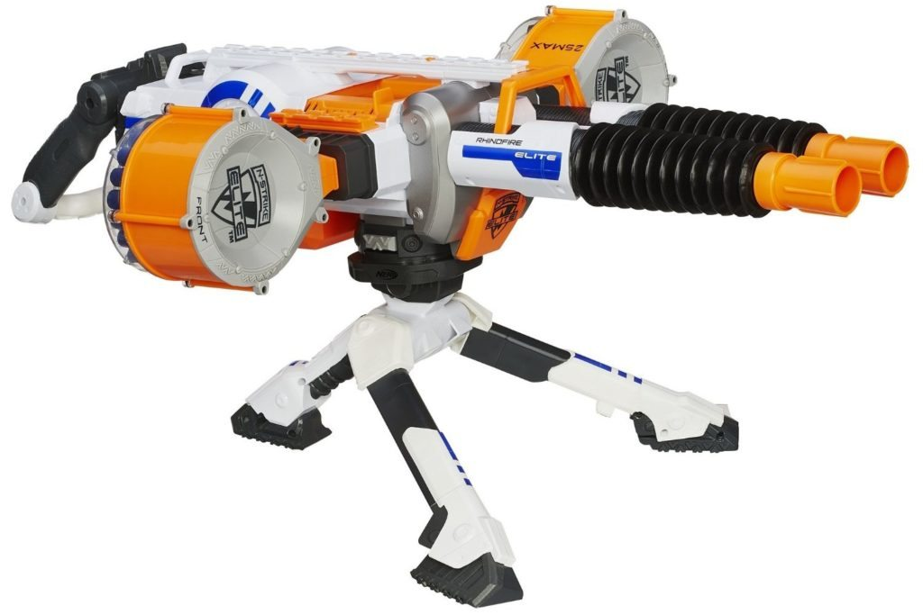 the Nerf Rhino Fire is a direct successor to the Nerf Vulcan EBF-25