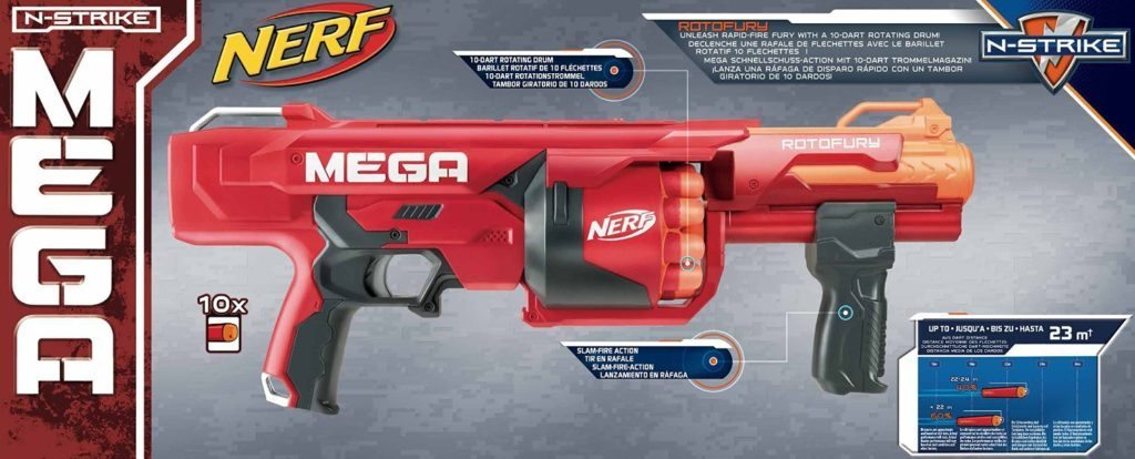 nerf rotofury back of box