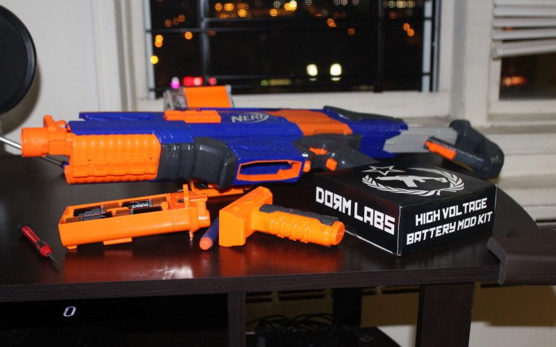 nerf rapidstrike cs-18 ver 2.0 with dormlabs high voltage battery mod kit
