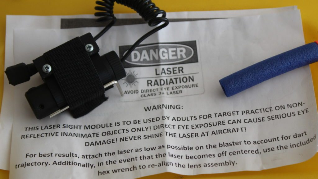 nerf tactical laser module dorm labs warning