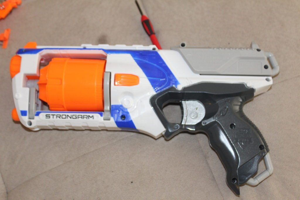 nerf strongarm mod kit orange mod works unleashed solid final stage mod kit
