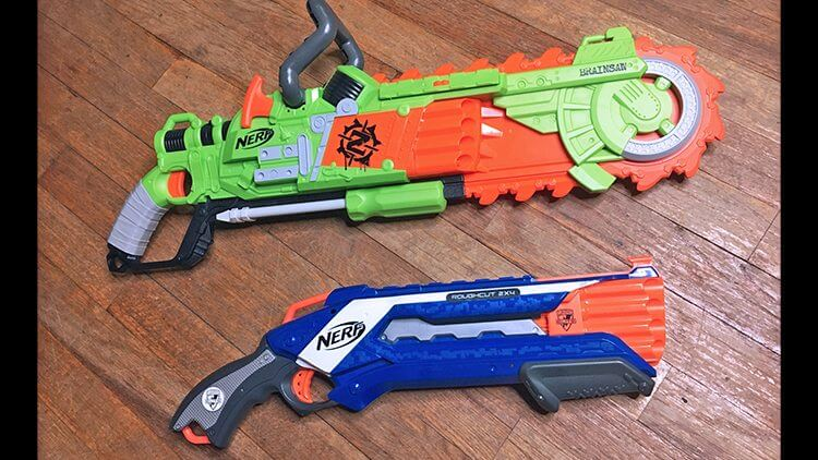 nerf brainsaw, nerf rough cut