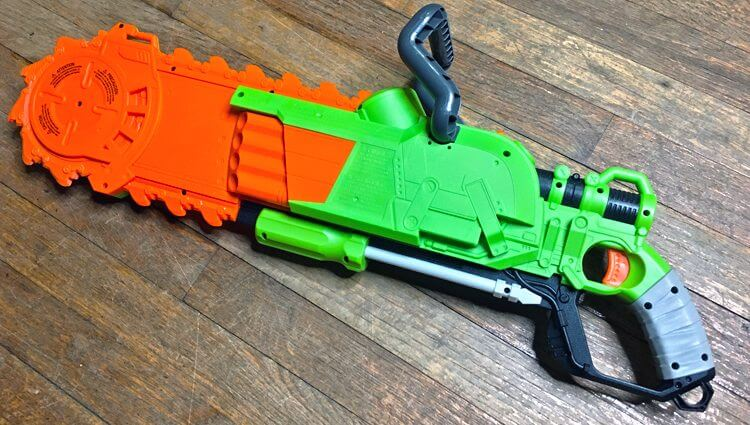 nerf brainsaw, zombie strike blaster economy paint job