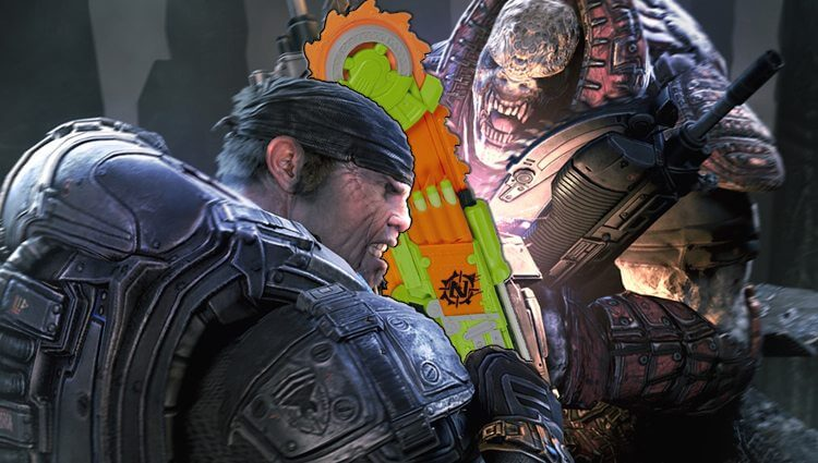 nerf brainsaw, zombie strike blaster in gears of war