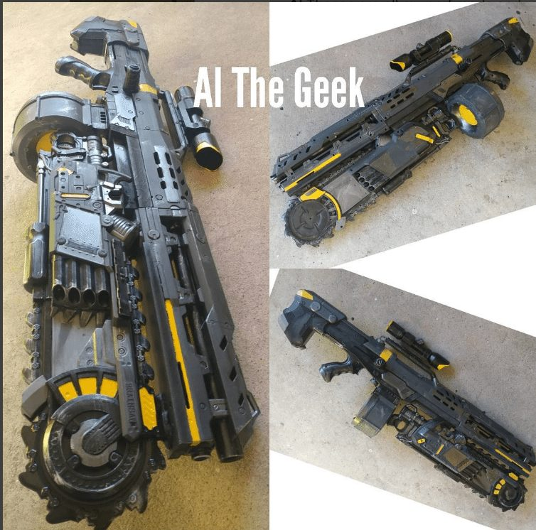 nerf brainsaw mod by al the geek