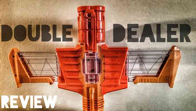 nerf double dealer, doomlands blaster airplane